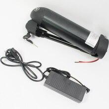 Schwarz Silber Elektro-fahrrad 48 V 8.7AH Lithium Ebike Batterie lithium-ionen-batterie Für P29PF ZELL Umfassen BMS und Standard 2A ladegerät