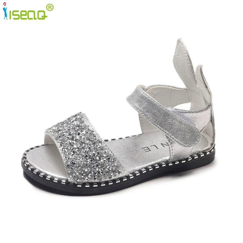 Baby mädchen sandalen flache heels schuhe kinder mode party und hochzeit sommer schuhe chaussure enfants fille alias BS095