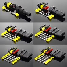 2-5ชุดชุด2ขา1/2/3/4/5/6 Pins Way AMP Super ซีลกันน้ำปลั๊กต่อสายไฟสำหรับรถกันน้ำ Connector