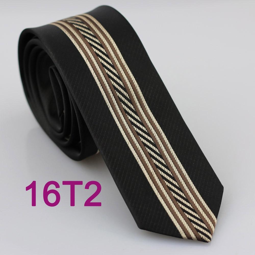YIBEI Coachella Jacquard Black Ties Brown Striped Gravatas De Seda Classica Skinny Narrow Slim Mens Necktie Suit Party Dresses