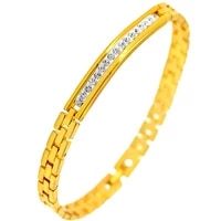 unisex jewelry yellow gold filled womens mens bracelet with one row 18cm long