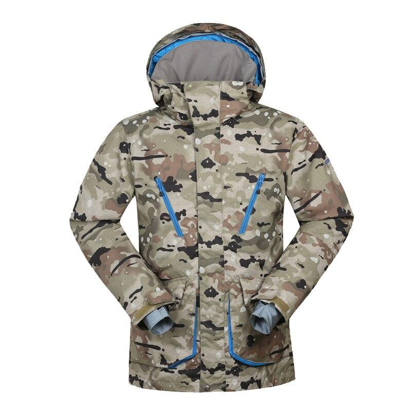Traje de esquí GSOU para hombre a prueba de viento, impermeable, chaqueta de esquí para invierno, transpirable, resistente al desgaste, ropa de nieve para hombres