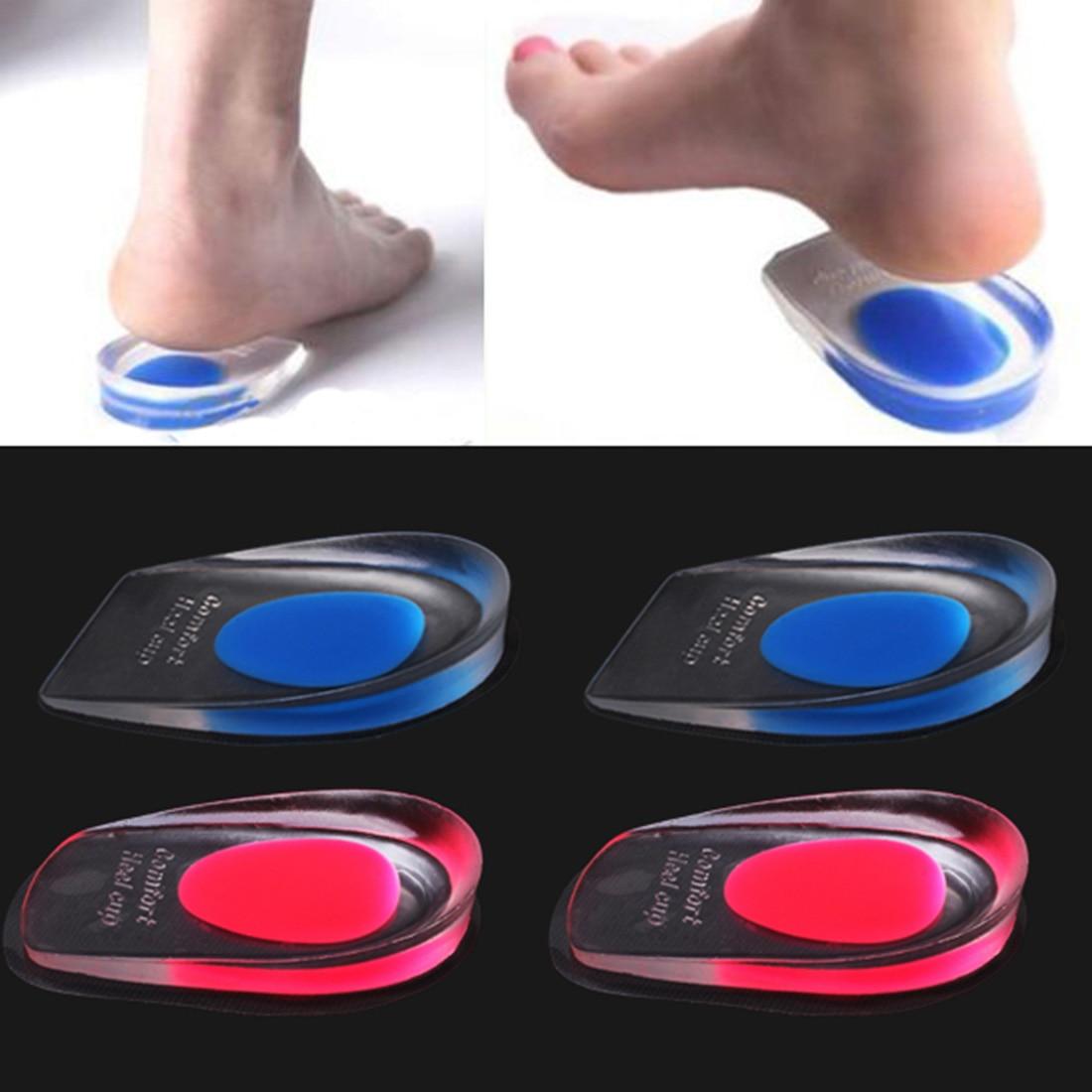 Силиконовые гелевые стельки на пятке для мужчин и женщин, 1 пара, облегчающие боли в ногах