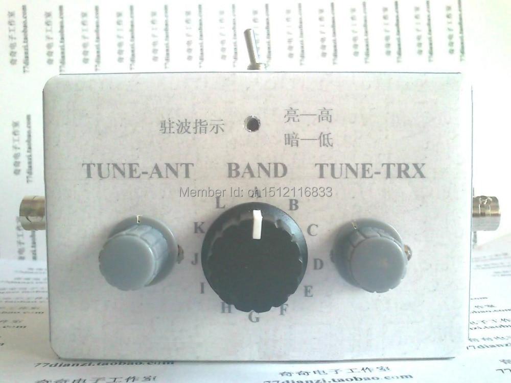 Nuevo 1-30 Mhz Manual sintonizador de antena de jamón RADIO QRP, kit de bricolaje,