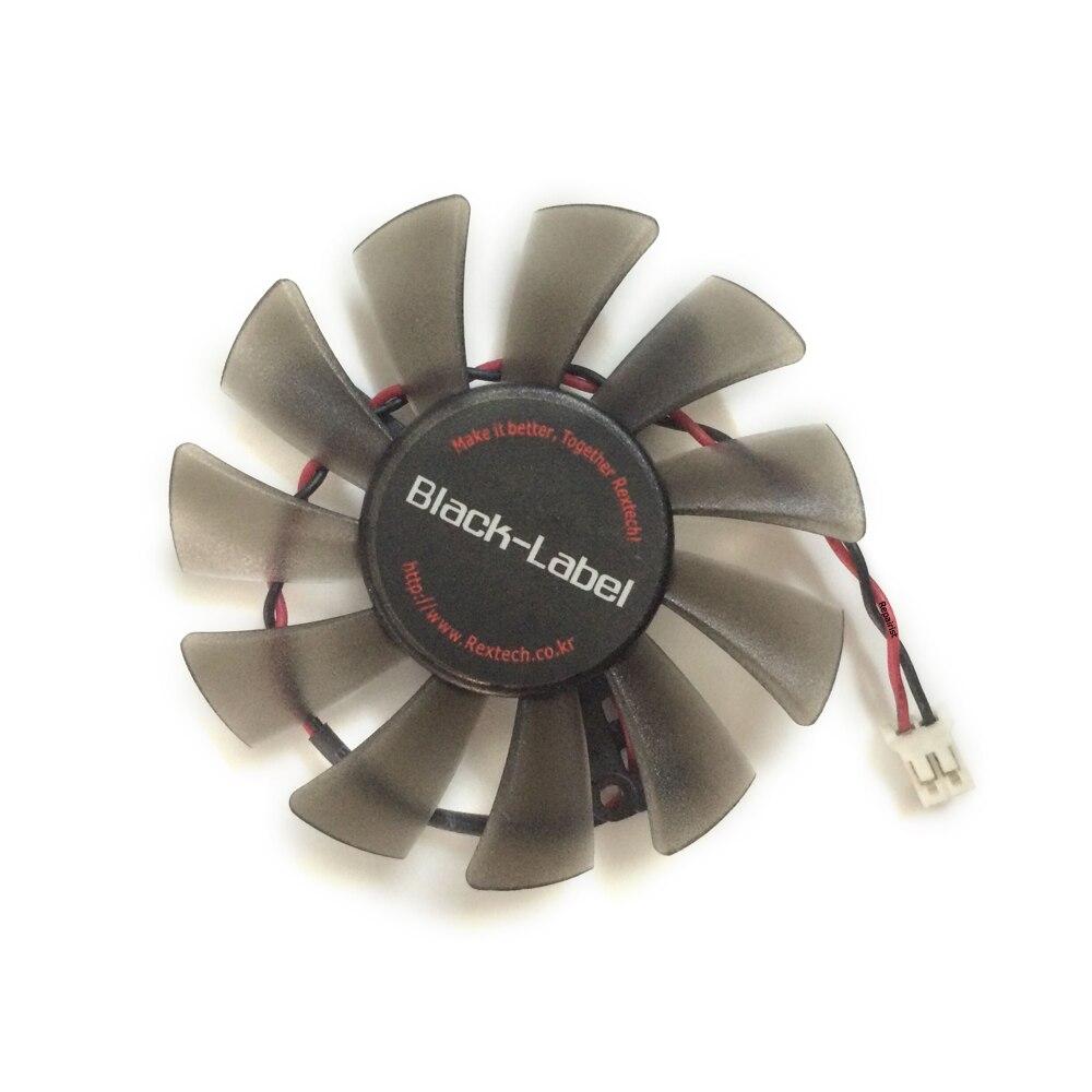 1 peça de zunshan df0601012seg2c 01 12 v 0.24a 2pin gpu cooler DF0601012SEG2C-01 para zotac 6010 placa gráfica ventilador de refrigeração