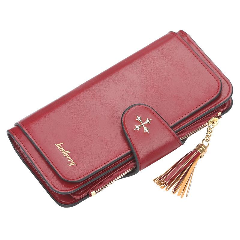 New Fashion Women Wallet Leather Purse Female Long Wallet Purse Vintage Money Clip High-capacity Wallet