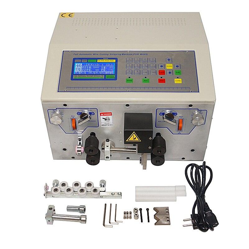 SWT508MAX 4 ruedas pelado de cables automático y máquina peladora SWT-508MAX prensado de corte de alambre de 0,1 a 13mm 500W