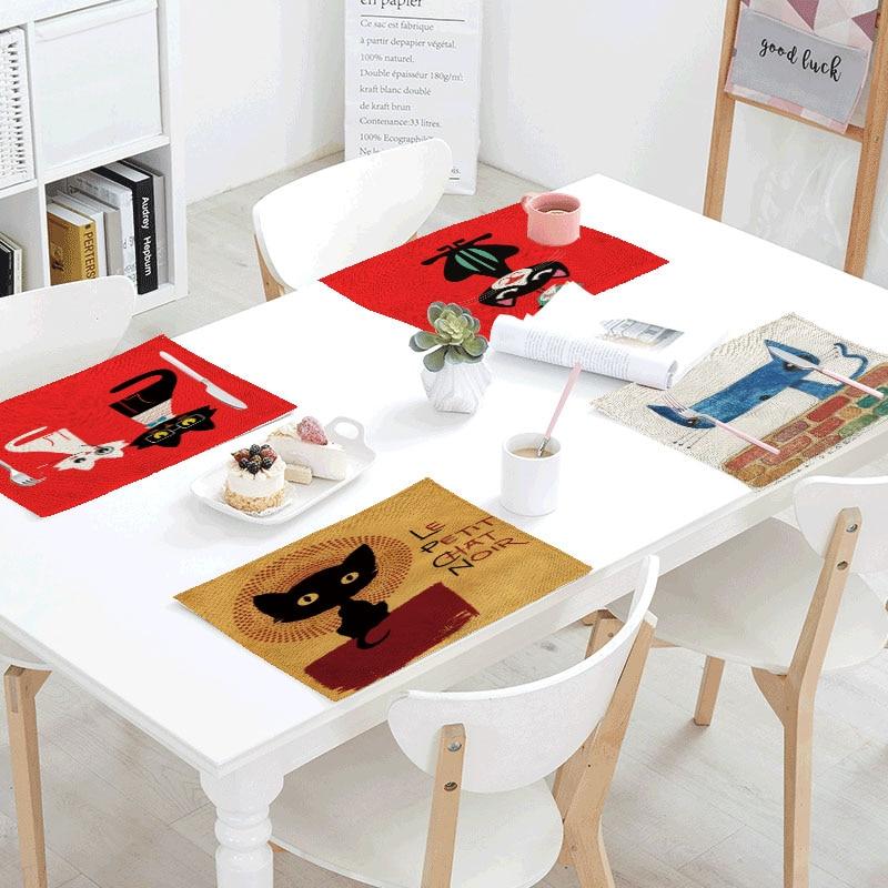 Mantel Individual de poliéster Para decoración de fiestas, Servilletas de mesa con...