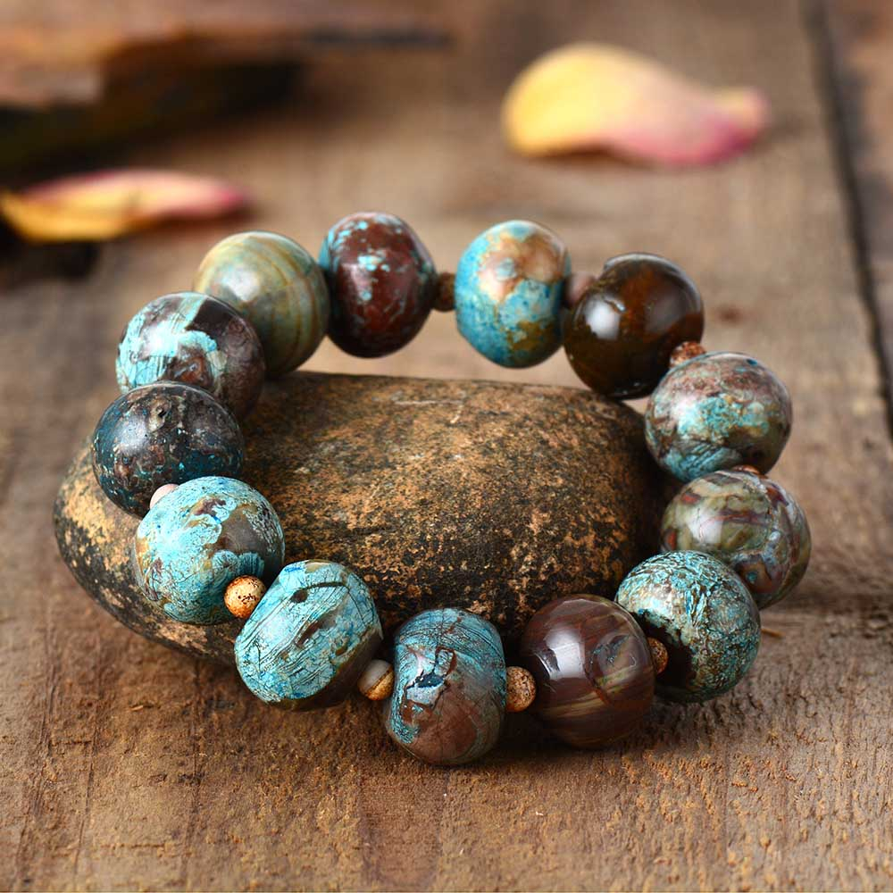 Beaded Bracelet Natural Stone Women Stretchy Bracelets Yoga Mala Elastic Bracelets Jewelry