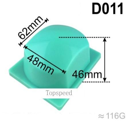 رأس الوسادة المطاطية من السيليكون 62 × 48 مللي متر ، لطابعة الوسادة ، قاعدة خشبية