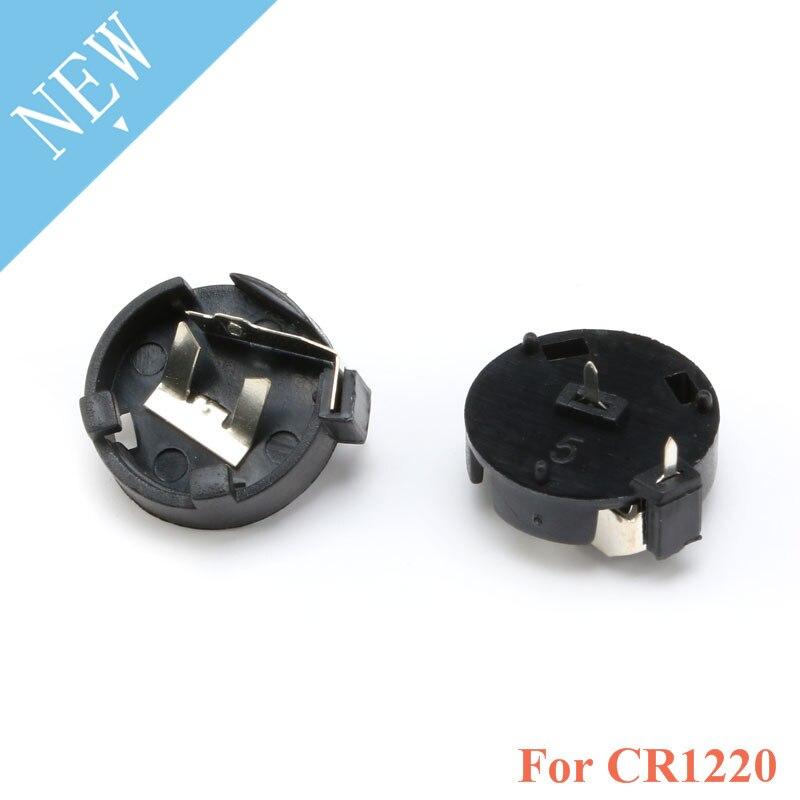 10 PCS CR1220 runde Taste Münze Zelle Batterie Sockel Inhaber Fall Abdeckung 3 V batterie Lagerung Box