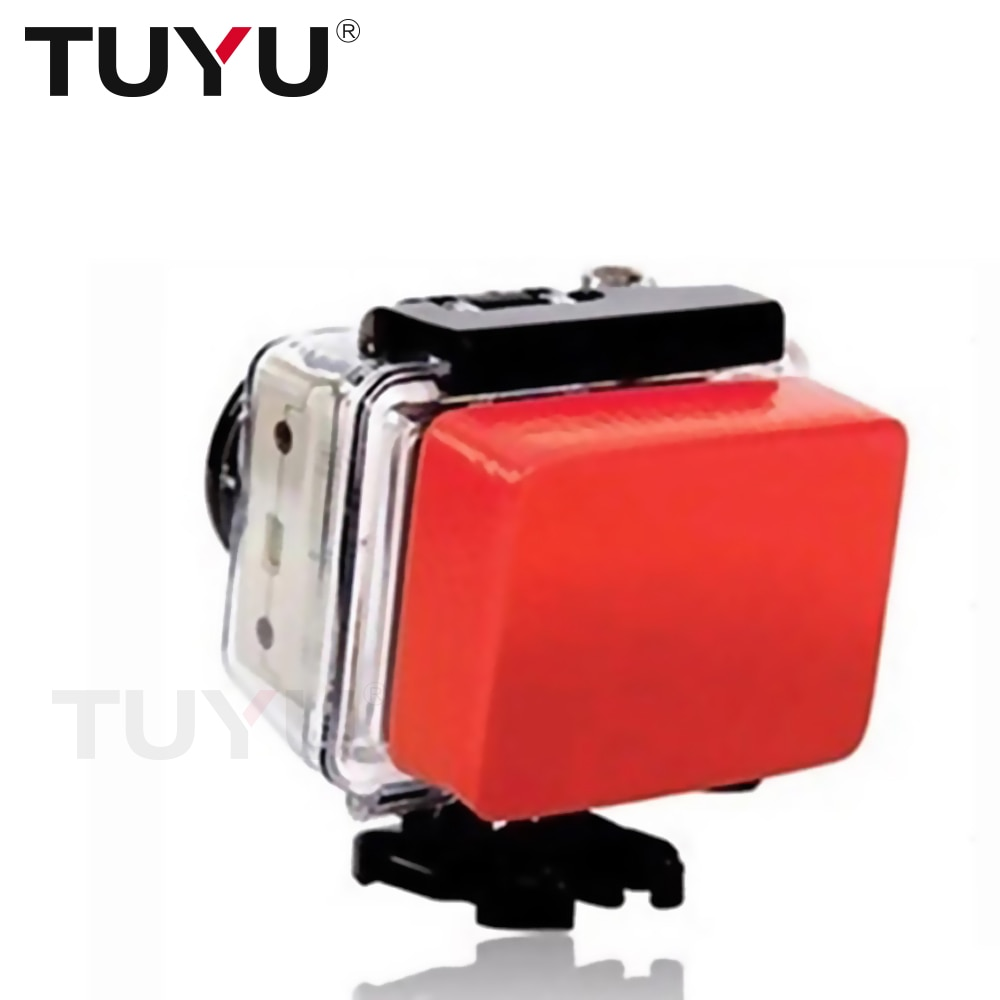 TUYU Anti Sink Float Box with 3M Adhesive Sticker for GoPro Hero 5 4 3+ EKEN h9 SJCAM SJ4000 Xiaomi Yi 4K 2 Go Pro Accessory