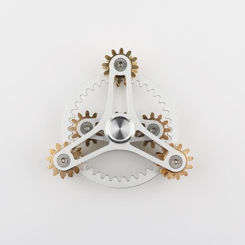 Tri-Spinner Hot Wheels Gear Teeth Linkage High-quality  Metalen Fidget Spinner Hand Spinner Finger Anti Stress Adult toys enlarge