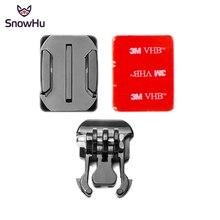 SnowHu Voor GoPro Accessoires Mount Helm Gebogen Opper + 3M Sticker + Gesp Basic Gebogen Mounts voor Go pro hero 8 7 6 xiaomi GP13