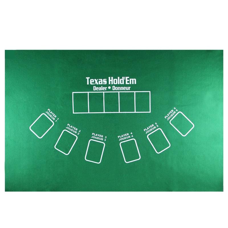 Горячая Распродажа, двусторонняя 60*90 см, 5 игроков, набор баккара для покера, фишки для покера, Техасский Холдем, карточный стол, тканевый войлок, настольная игра-3
