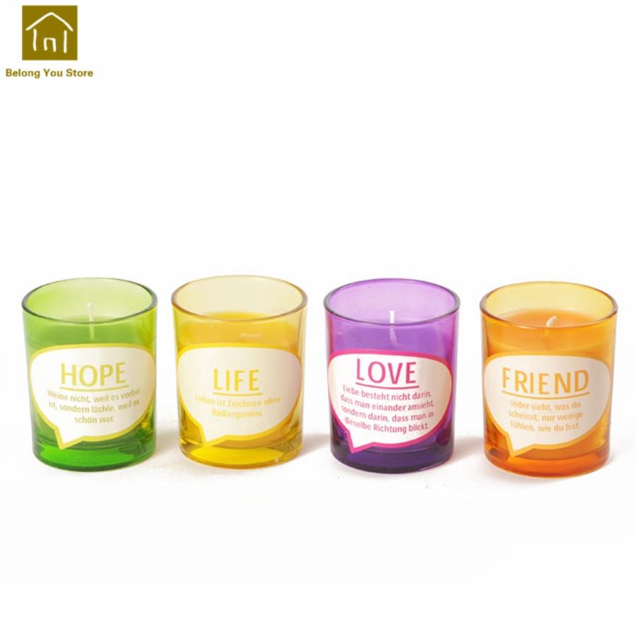 Vela de cristal creativa con Aroma, vela rosa para regalo de boda, decoración de velas para boda, velas de fiesta, lindas velas de cumpleaños Kerzenwachs lk055