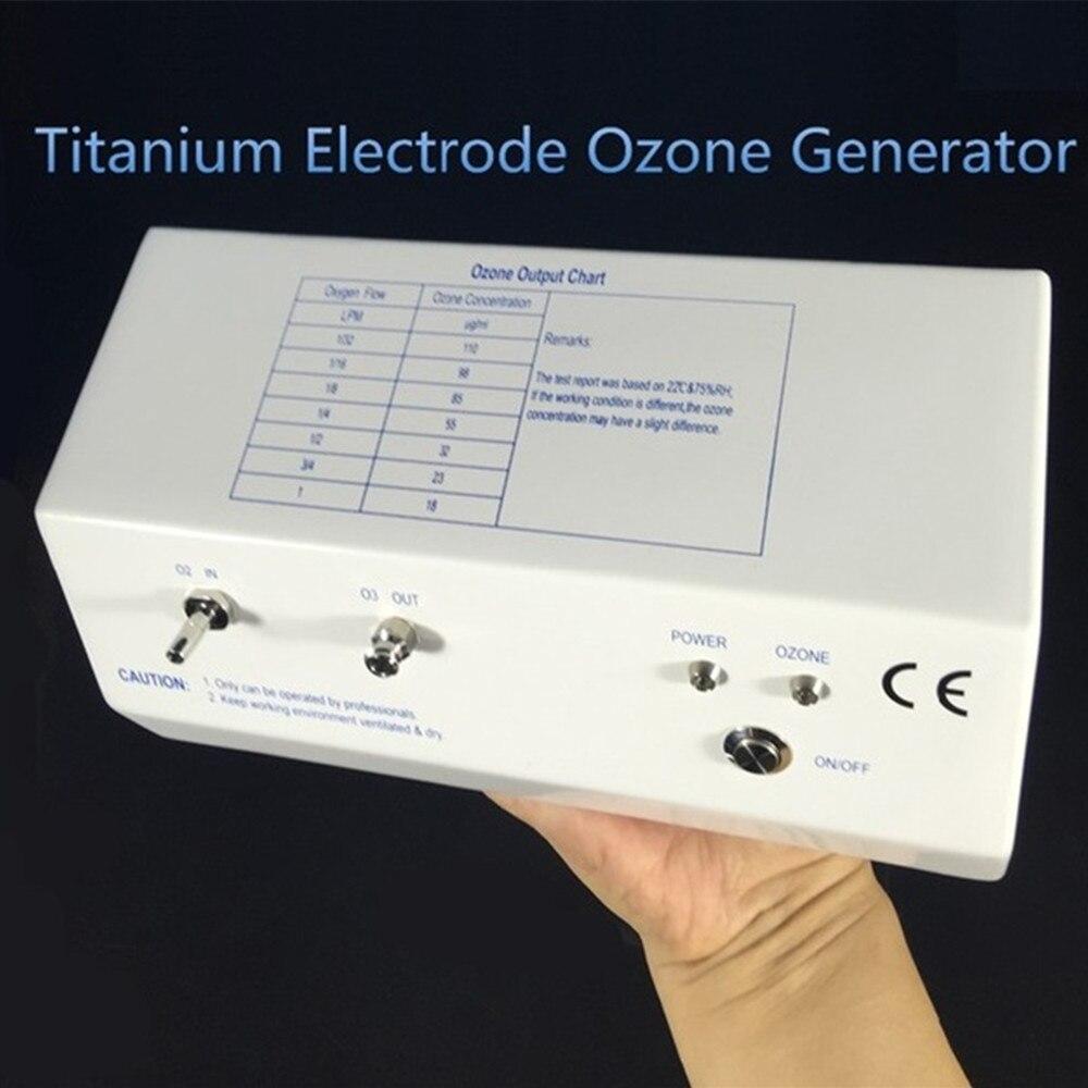Generador médico de ozono, electrodo de titanio longlife corona descarga generador de ozono 18-110ug/ml