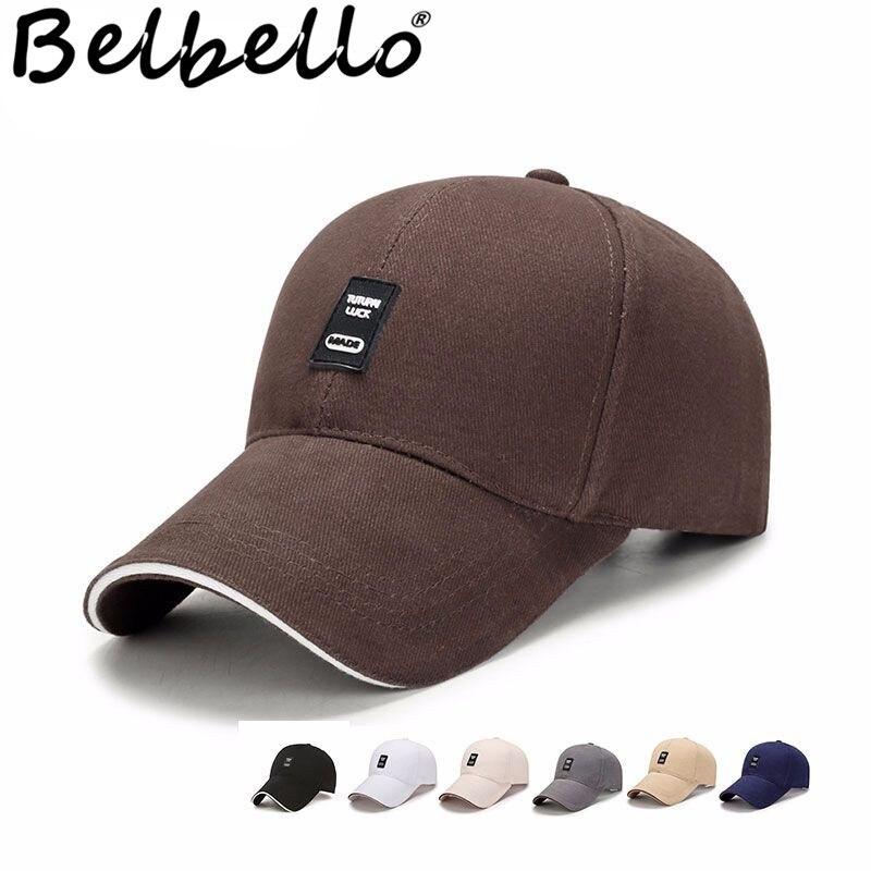 Belbello primavera y otoño nuevo estilo gorra de béisbol gorra de sol a la moda y concisa gorra de algodón al aire libre con lengua de pato