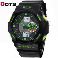 50M professionnel étanche Quartz montres hommes analogique numérique grand cadran sport extérieur lumineux montres 2016 mode OTS