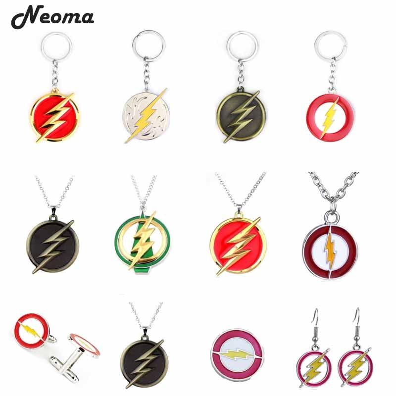 Gran venta de vengadores Infinity War The Flash Gordon Lightning llavero dorado rojo llavero mujer hombre regalo