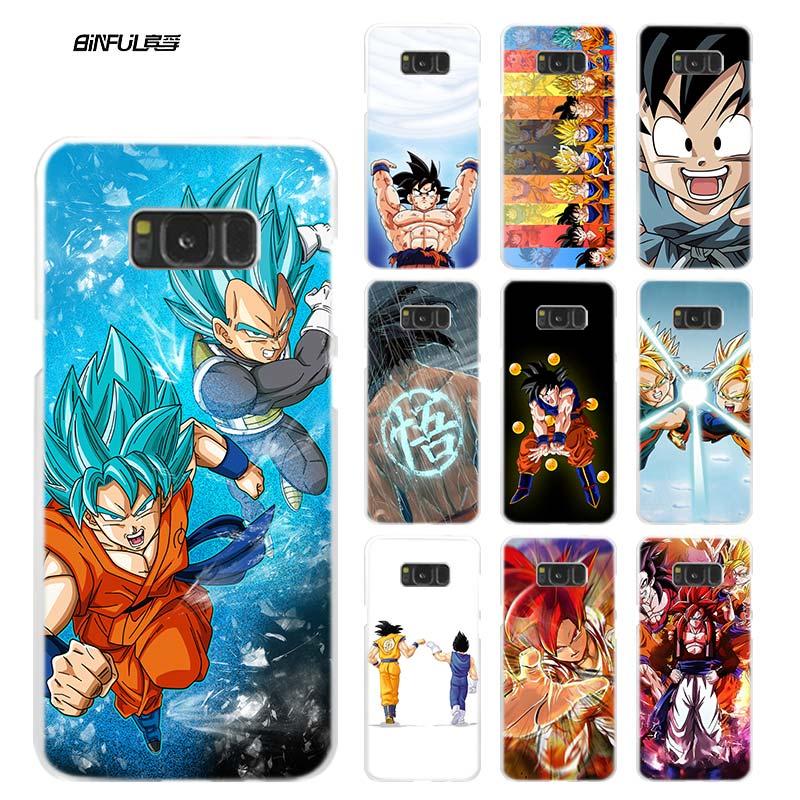 Anime caso para samsung galaxy note 8 9 m30 m20 m10 s10 s9 s8 mais s7 s6 borda de plástico duro telefone capa coque dragon ball z goku