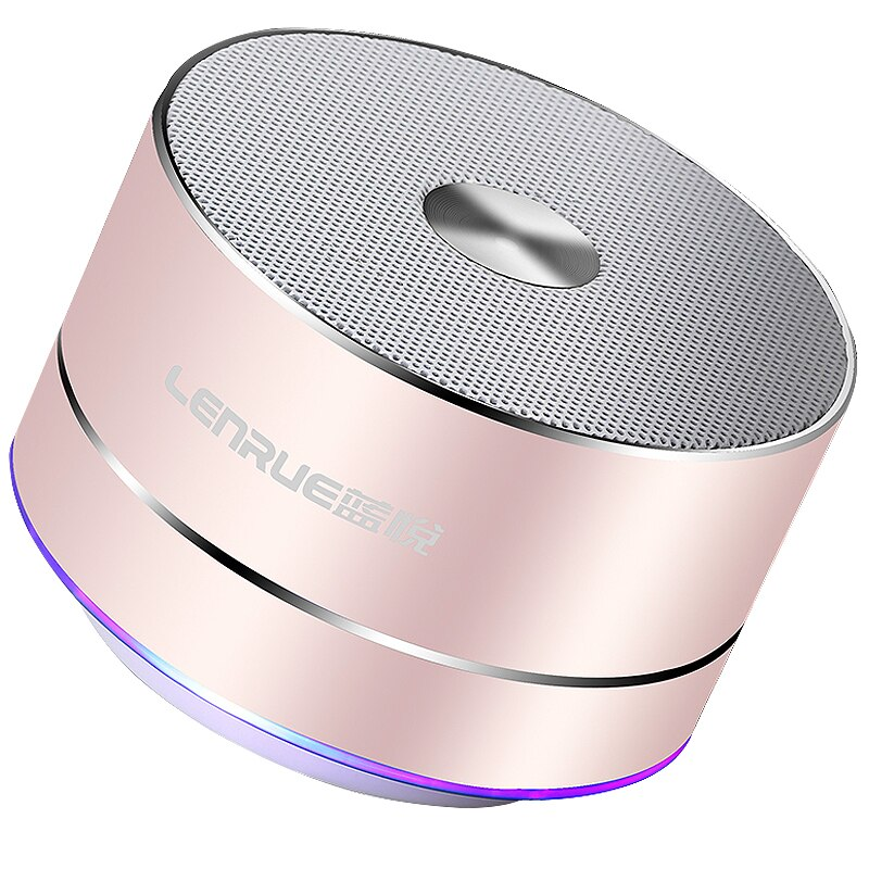 LENRUE altavoz inalámbrico Portátil con Bluetooth estéreo altavoces Led portátiles con micrófono incorporado MP3 MINI Subwoof altavoz de columna inteligente
