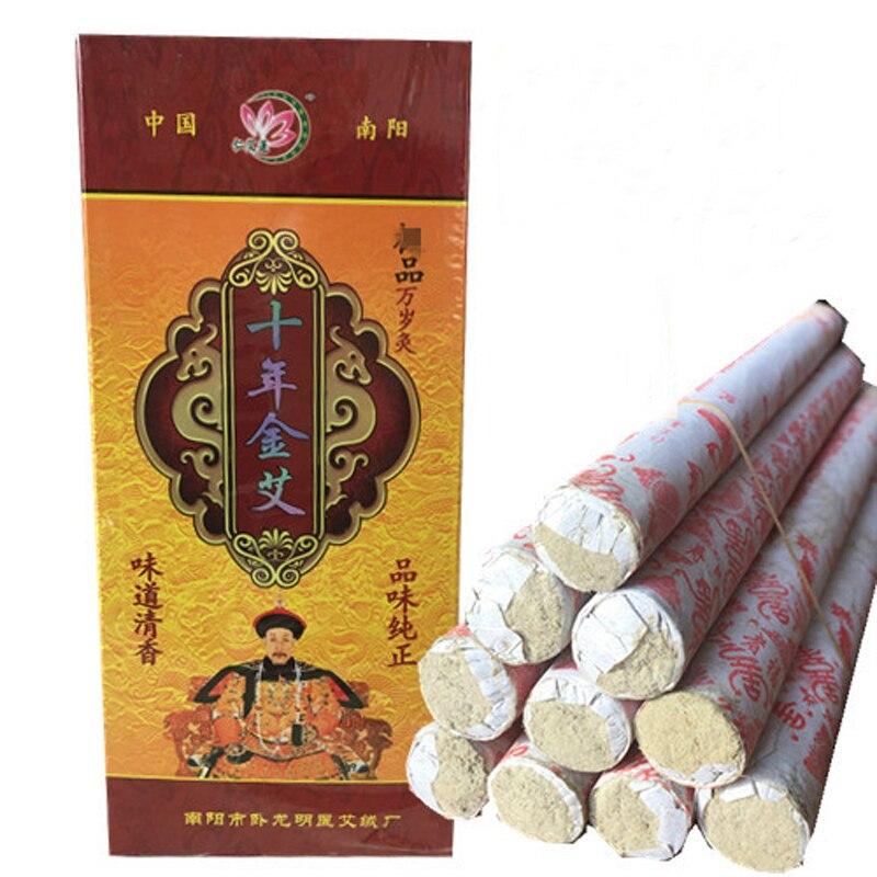 Rollos de rodillos Mox Pure de diez años Rollo de Moxa moxibustión chino mogwort Moxa Artemisia masaje con acupuntura terapéutica