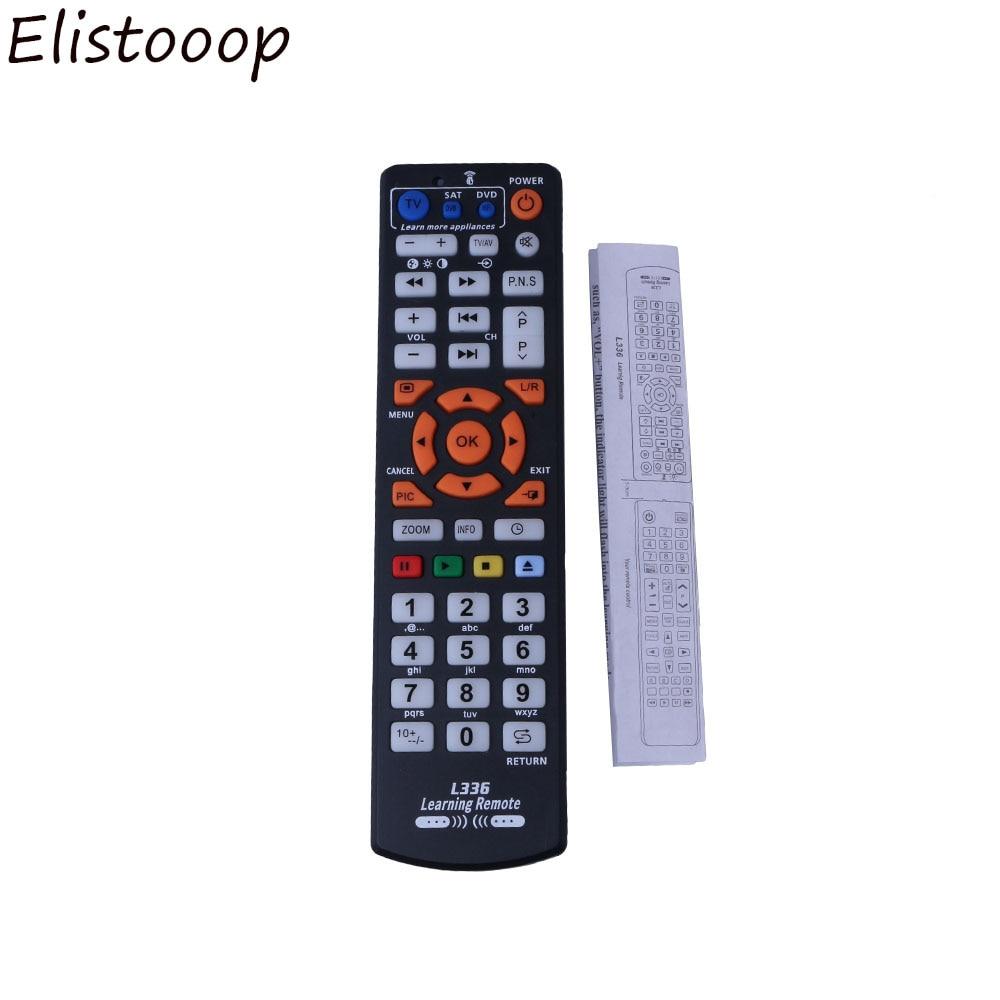 Controlador de mando a distancia inteligente con función de aprendizaje para TV CBL DVD SAT para chunghome L336