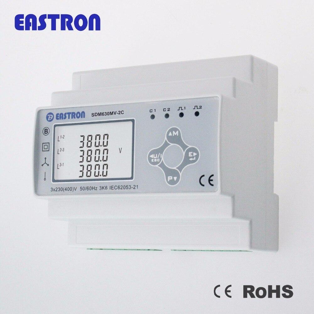 SDM630MV-2C, 333mv ct conectado, medidor de potência multifunction de entrada dupla para iluminação e energia, rs485 modbus rtu, ce aprovado