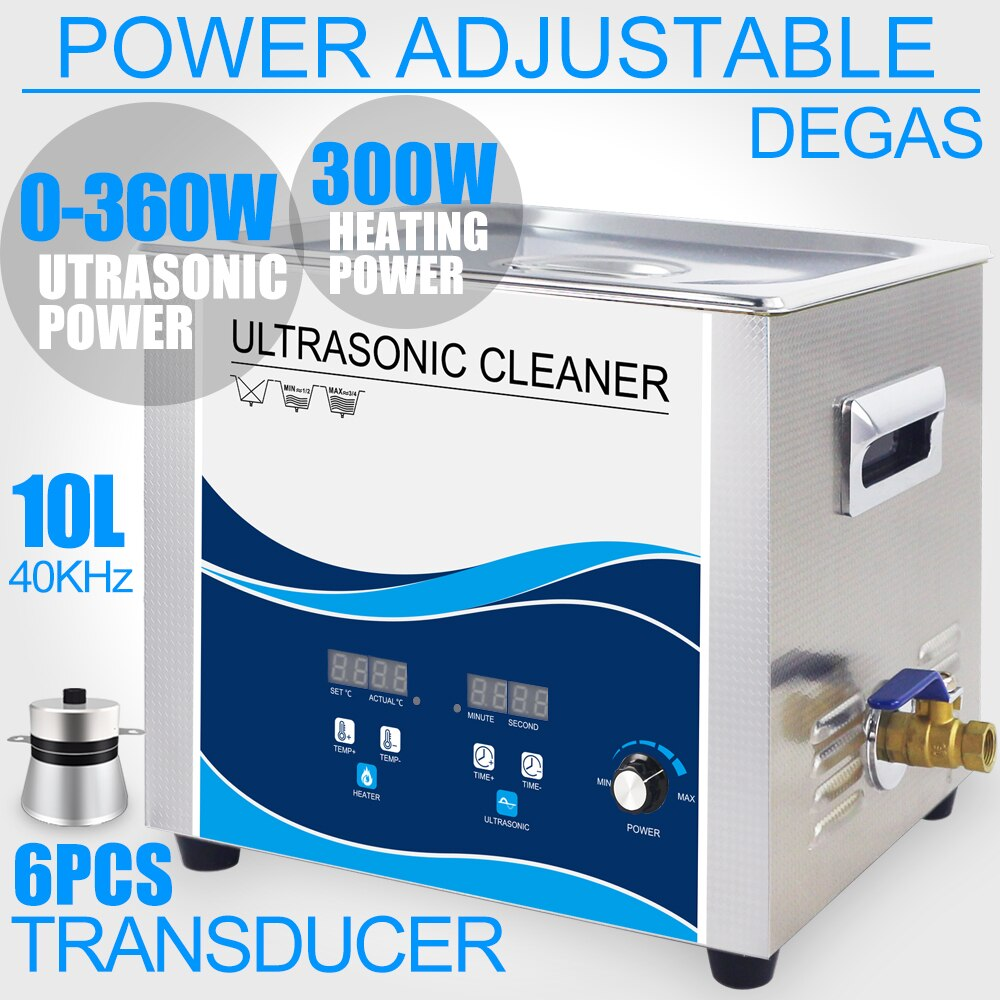 Ultrasonic Cleaner Bath 360W Power Adjustment 40KHZ Sonicator Washer Degas Remove Oil Rust Engine Filter Metal Parts Glassware industrial 88l ultrasonic cleaner generator engine oil auto car parts motherboard hardware washer heated bath equipment
