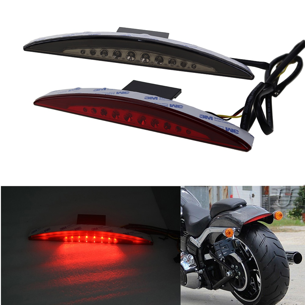 Luz trasera de punta de LED para guardabarros para Harley Softail FXSB, Breakout 2013 2014 2015 2016, luz trasera de frenos suave para motocicleta