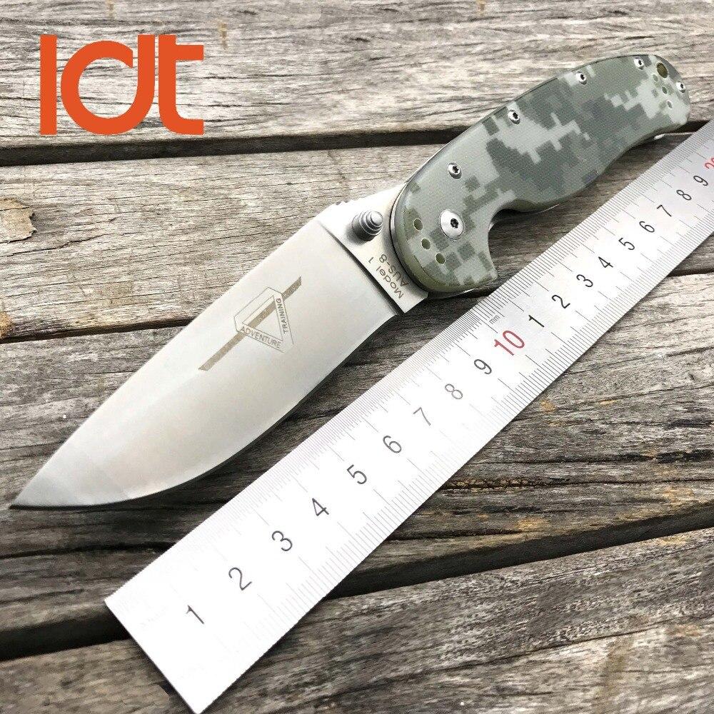 Cuchillo plegable LDT RAT modelo 1, cuchillo táctico, hoja de AUS-8, mango G10, cuchillo de supervivencia para acampar, caza, exteriores, herramientas EDC de bolsillo OEM