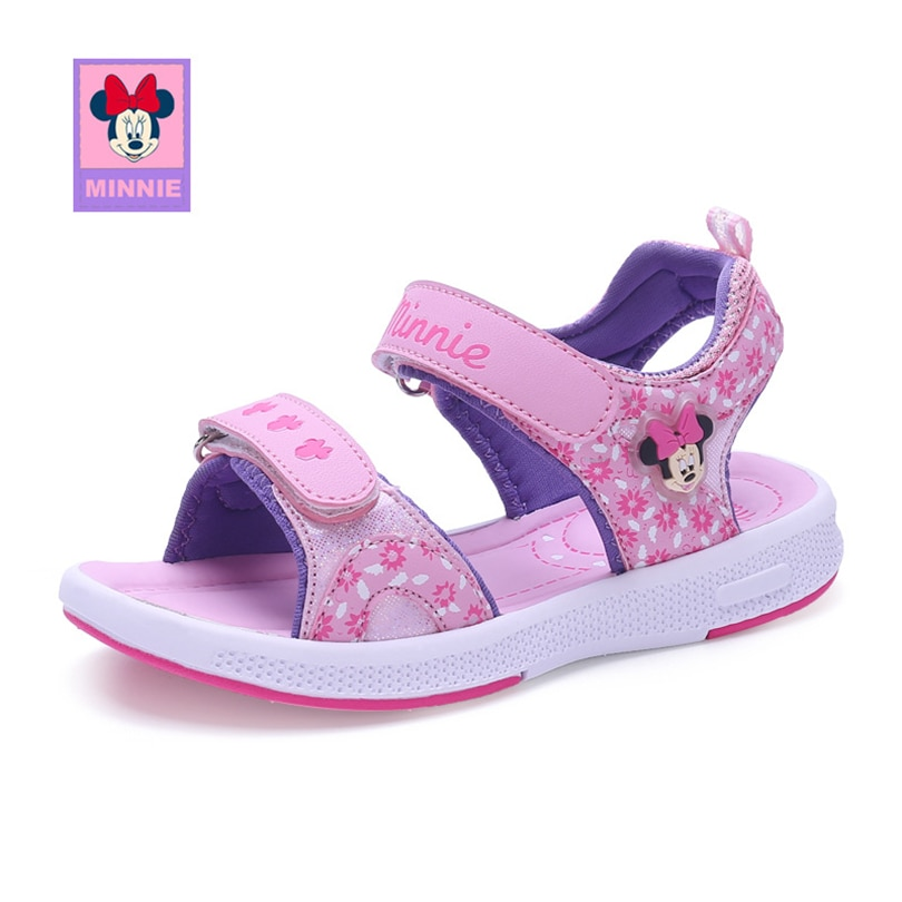 Disney 2018 Girl Minnie Sandals Fashion Summer Flops Slip Wear-resistant Baby Casual Slippers Girls Sandal Eur Size 26-37