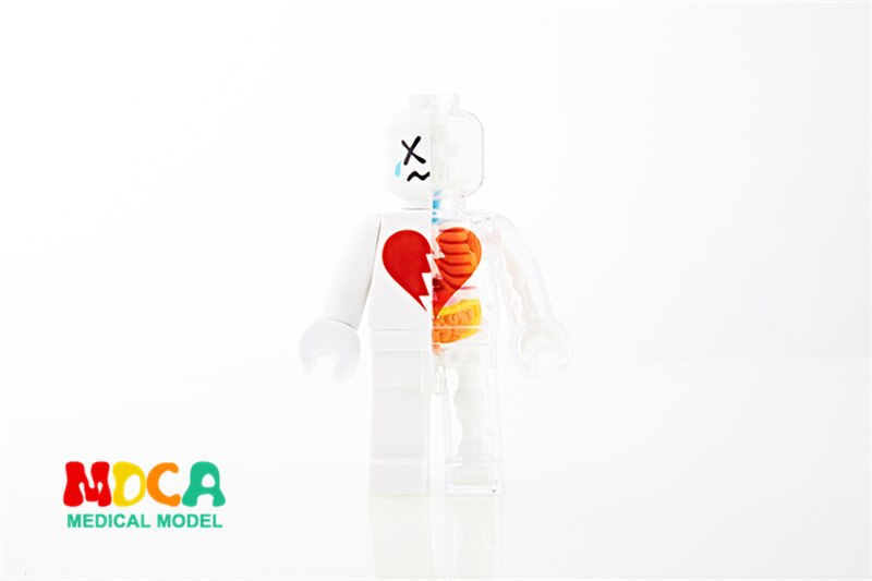 Love white brick man4d master puzzle Assembling toy Perspective bone anatomy model