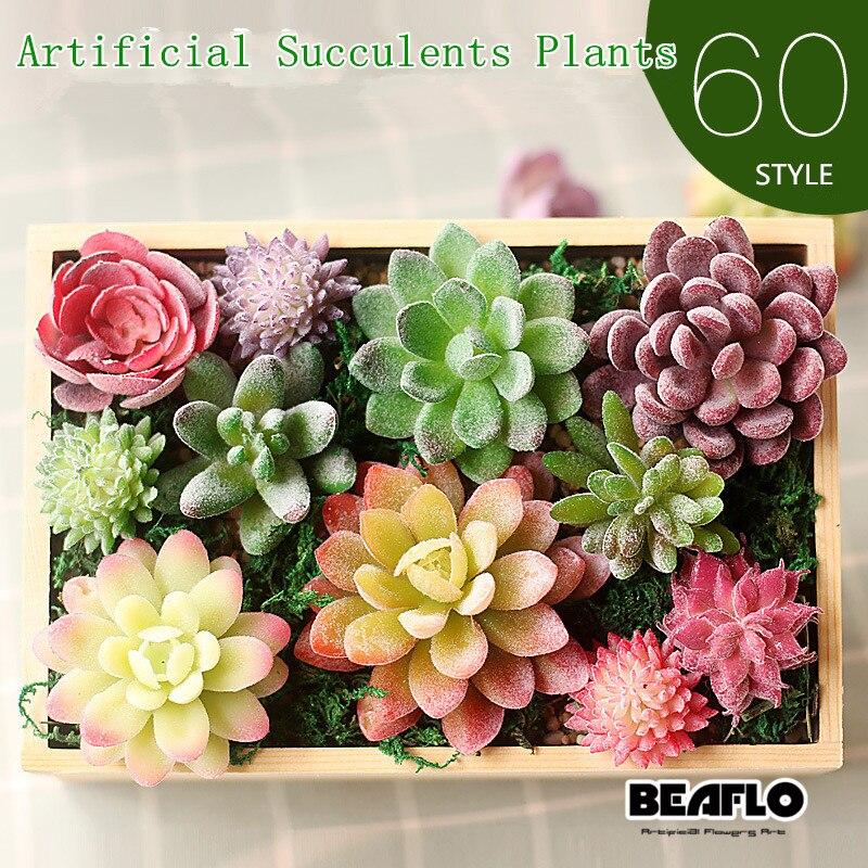 Decoración de suculentas artificiales, plantas de loto, hierba, desierto, paisaje de plantas artificiales, arreglo de flores falsas, hogar de jardín