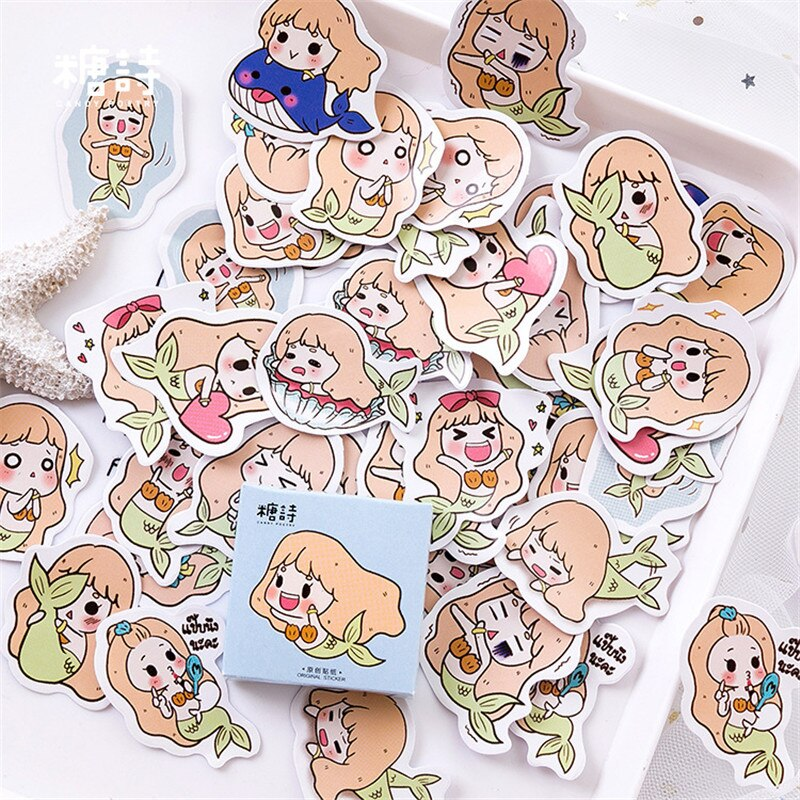 Adesivos scrapbooking diy carta kawaii dos desenhos animados meninas etiqueta de vedação scrapbook adesivo decorativo diário álbuns bala diário