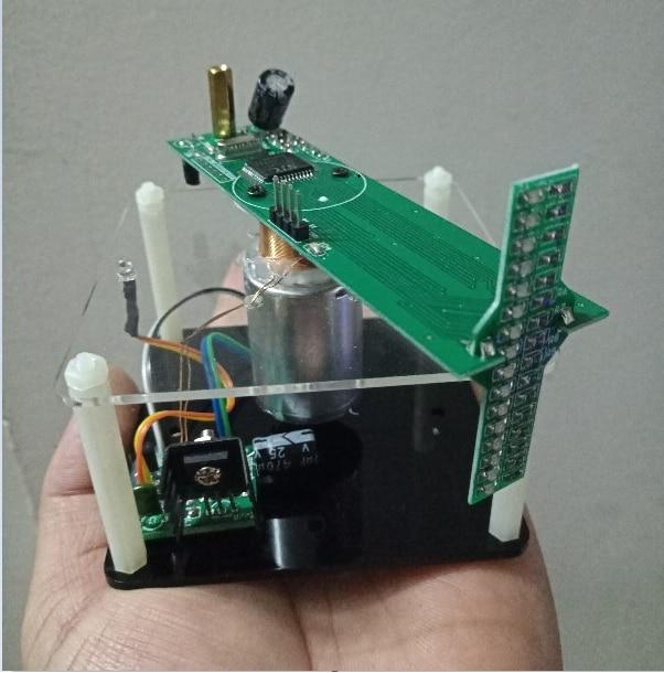 51 MCU-مجموعة شاشة LED متقاطعة ودوارة ، قطع إبداعية ، مجموعة إنتاج إلكترونية ، افعلها بنفسك