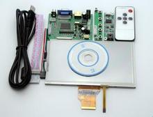 Free shipping 7 inch AT070TN90 LCD Display Screen + Kit HDMI VGA Input Driver Board + touch screen panel glass