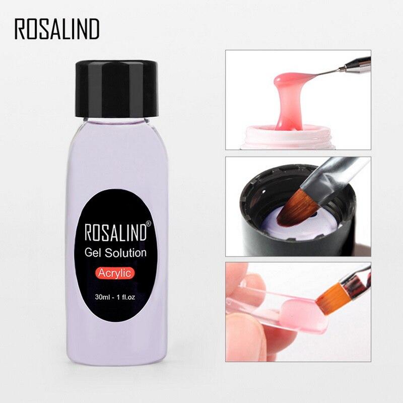 ROSALIND, nuevo Gel líquido, limpiador, extensión de líquido, pegamento, limpieza, agua, manicura, solución de Gel acrílico, limpieza, Gel de agua, limpieza, 30ML