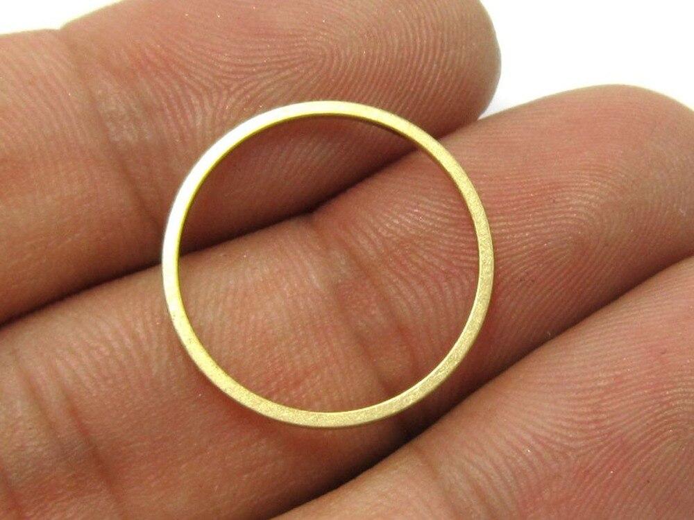 100 Uds. Encantos de latón 20x1mm círculo redondo latón crudo pendientes hallazgos R159