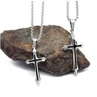 simple cross pendant necklace long necklace women men 2019 fashion christian link chain statement necklace men jewelry