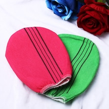 1PC Red Green Korean Italy Exfoliating Body-Scrub Towel Glove Smooth Skin Extreme Comfort Shower Bat