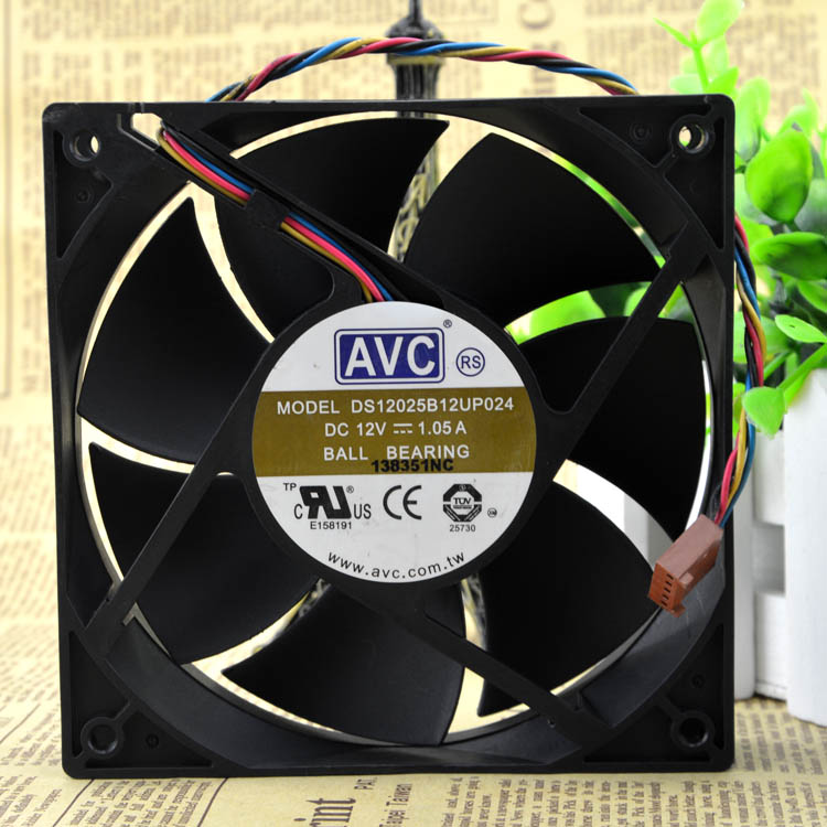 New original DS12025B12UP024 12V 1.05A 12cm 4-wire PWM Speed Control Fan
