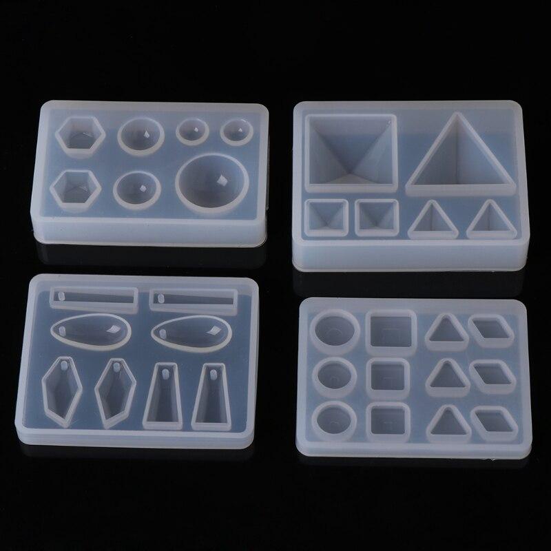 Жидкая смола силиконовая форма DIY геометрическое треугольное зеркало ремесло эпоксидная смола для изготовления ювелирных изделий ожерелье кулон декоративный торт