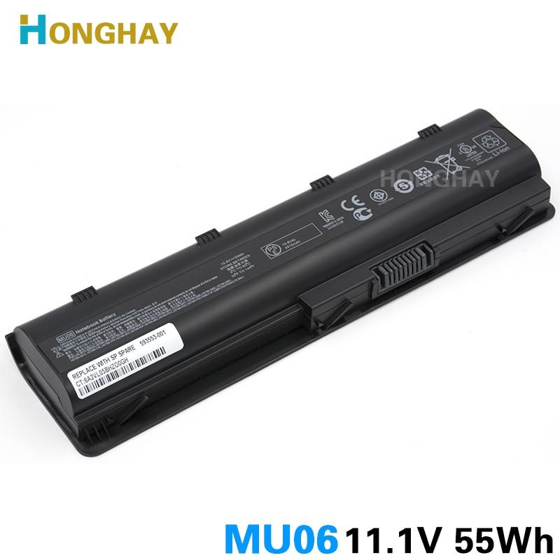 HONGHAY 55WH MU06 Batteria Del Computer Portatile per HP Pavilion G4 G6 G7 G32 G42 G56 G62 G72 CQ32 CQ42 CQ43 CQ62 CQ56 CQ72 DM4 MU09 593553-001