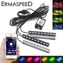 4 IN 1 moto LED atmosfera strisce luce Android IOS App controllo RGB decorativo romantico luci a LED universali