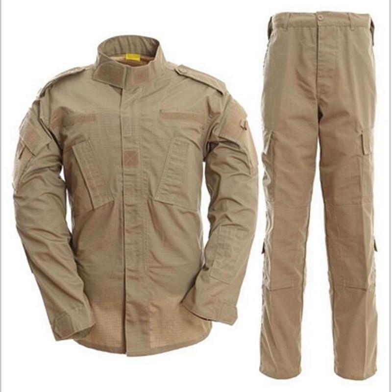 Hunting Gear Tactical US Army Combat Uniform Woodland Digital Camouflage ACU Military Uniform CS Training Uniform shirt&pants