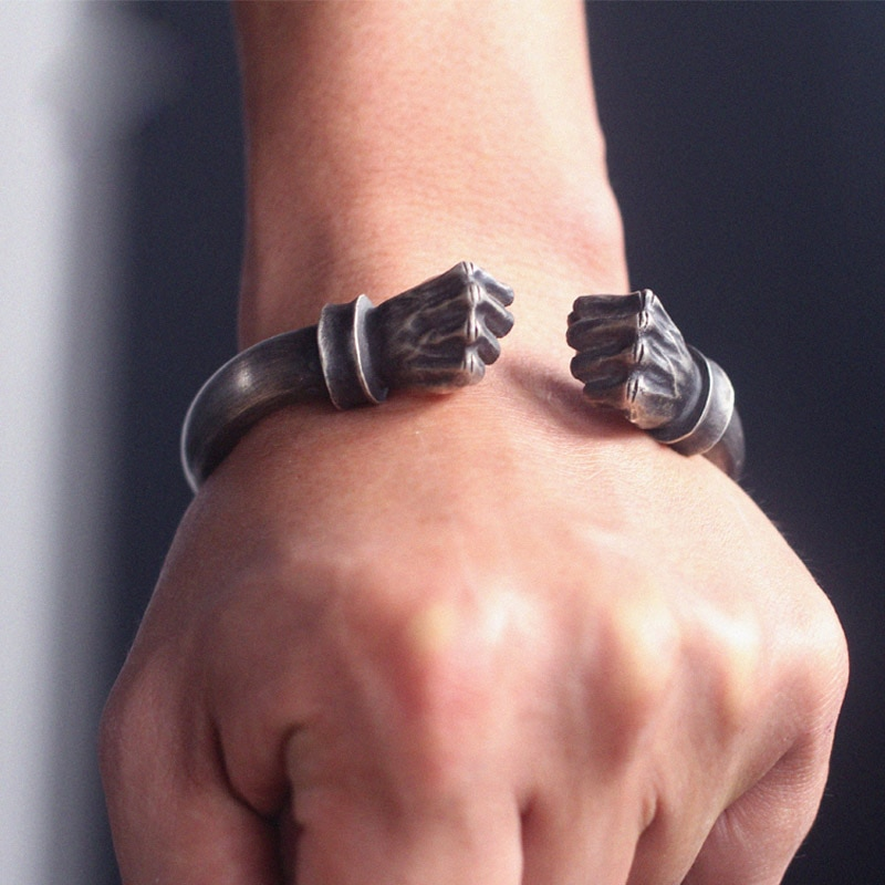 Boxing Bangle Double-end Bracelet Fist Bracelets Customized Hande Jewelry Gift for Women Men Birthday Present