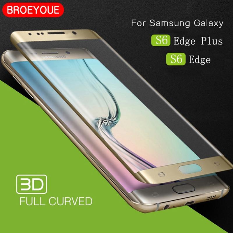 Vidrio templado para Samsung S6 S7 S8 S9 S10 SE Edge Plus Note 8 9 Protector de pantalla 3D borde curvado cubierta completa película a prueba de explosión