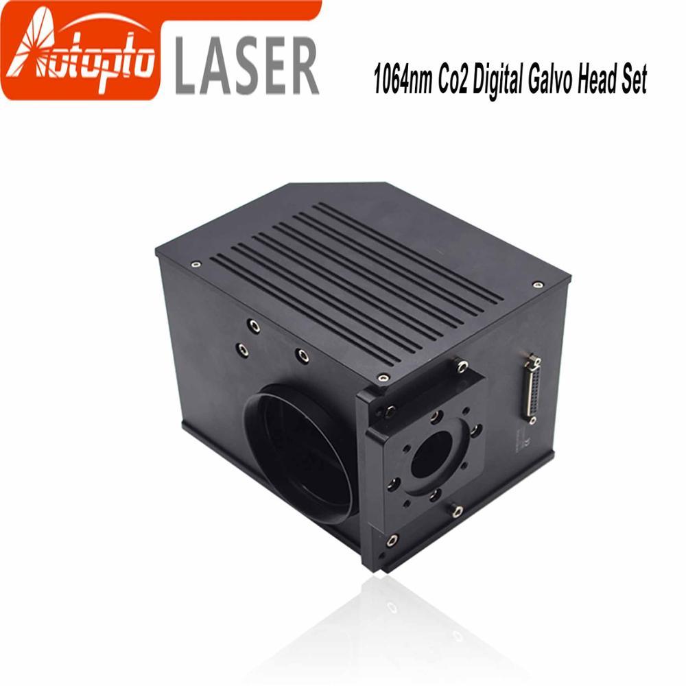 10.6um CO2 Laser Scanning Galvanometer Scanning Aperture 20mm Galvanometer Scanner + DC24V Power Supply for Laser Machine 20kpps laser scanning galvo scanner ilda closed loop max 30kpps for laser 3d printer